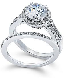 Swarovski Zirconia Bridal Set in Sterling Silver (4 ct. t.w.)