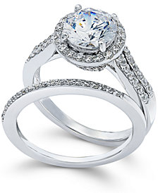 Arabella Swarovski Zirconia Bridal Set in Sterling Silver (4 ct. t.w.)