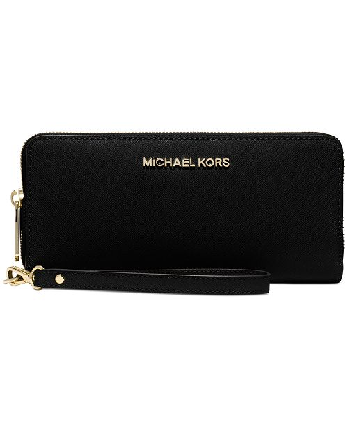 d15049bbd627 ... Michael Kors Jet Set Travel Crossgrain Leather Continental Wallet ...