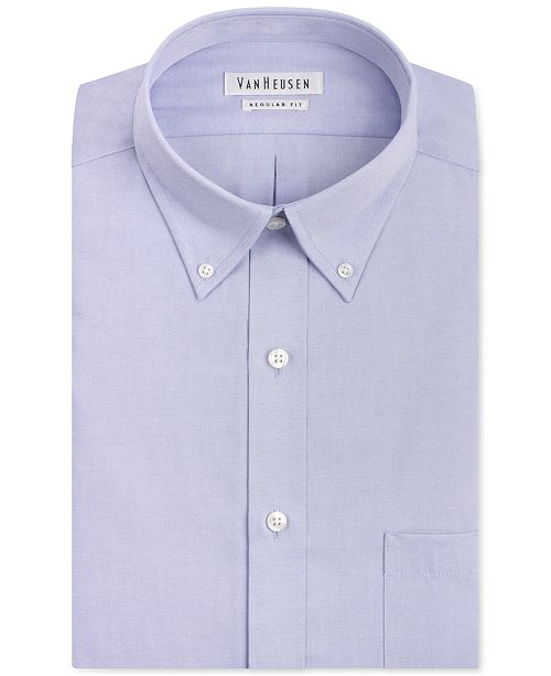 1534aa805e6 ... Van Heusen Classic-Fit Easy Care Pinpoint Oxford Dress Shirt ...