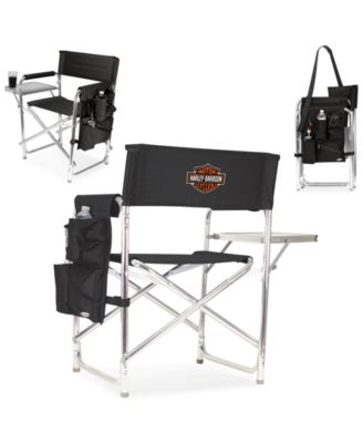 Harley-Davidson Folding Sports Chair  sc 1 st  Macyu0027s & Picnic Time Harley-Davidson Folding Sports Chair - Outdoor Dining ...