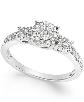 promise ring 1 4 ct t w in sterling silver