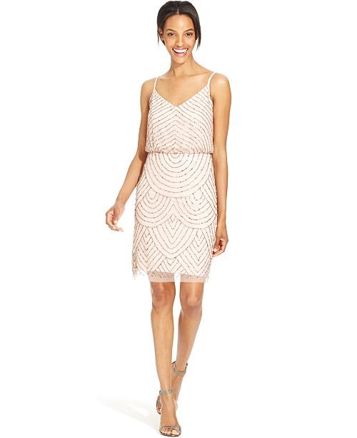 a22bbed32fe Adrianna Papell Beaded Blouson Dress   Reviews - Dresses ...