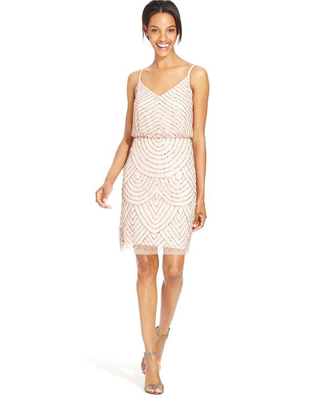 Adrianna Papell Beaded Blouson Dress