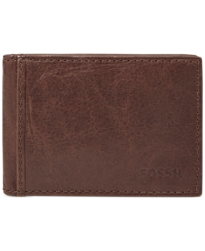 Fossil Ingram Money Clip Bifold Leather Wallet