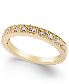 Diamond Box Milgrain Band (1/4 ct. t.w.) in 14k White Gold or Yellow Gold