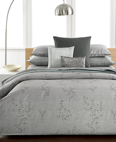 CLOSEOUT! Calvin Klein Staggered Lines Queen Coverlet