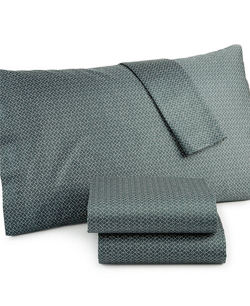 Calvin Klein CLOSEOUT! Pyrus Diamond Net King Sheet Set