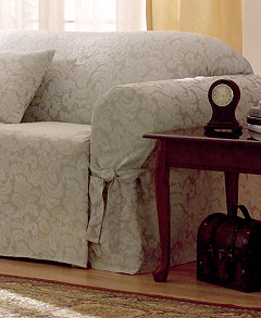 living room chair slipcovers. Product Picture Sure Fit Scroll Furniture Slipcovers  For The Home