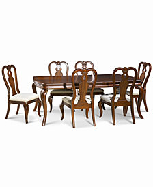 Bordeaux 7-Pc. Dining Room Set, Created for Macy's,  (Dining Table & 6 Queen Anne Side Chairs)