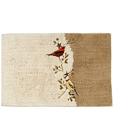 Avanti Bath Rug, Gilded Birds