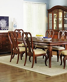 Closeout! Bordeaux 7-Pc. Dining Room Set, Created for Macy's,  (Dining Table & 6 Queen Anne Side Chairs)