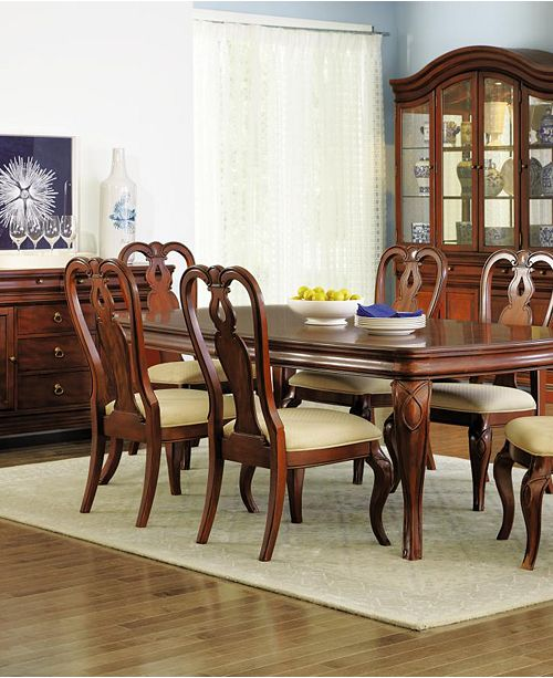 Bordeaux 7 Pc Dining Room Set Created For Macy S Table 6 Queen Anne Side Chairs