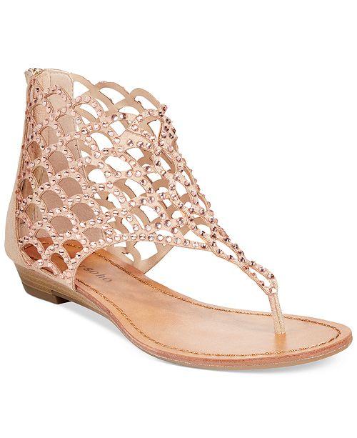 5f7ea3c82860 ZIGIny ZiGi Soho Melaa Caged Flat Thong Sandals   Reviews - Sandals ...