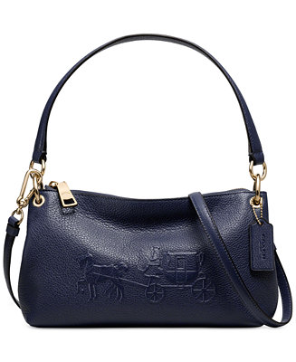 Coach Embossed Horse And Carriage Charley Crossbody In