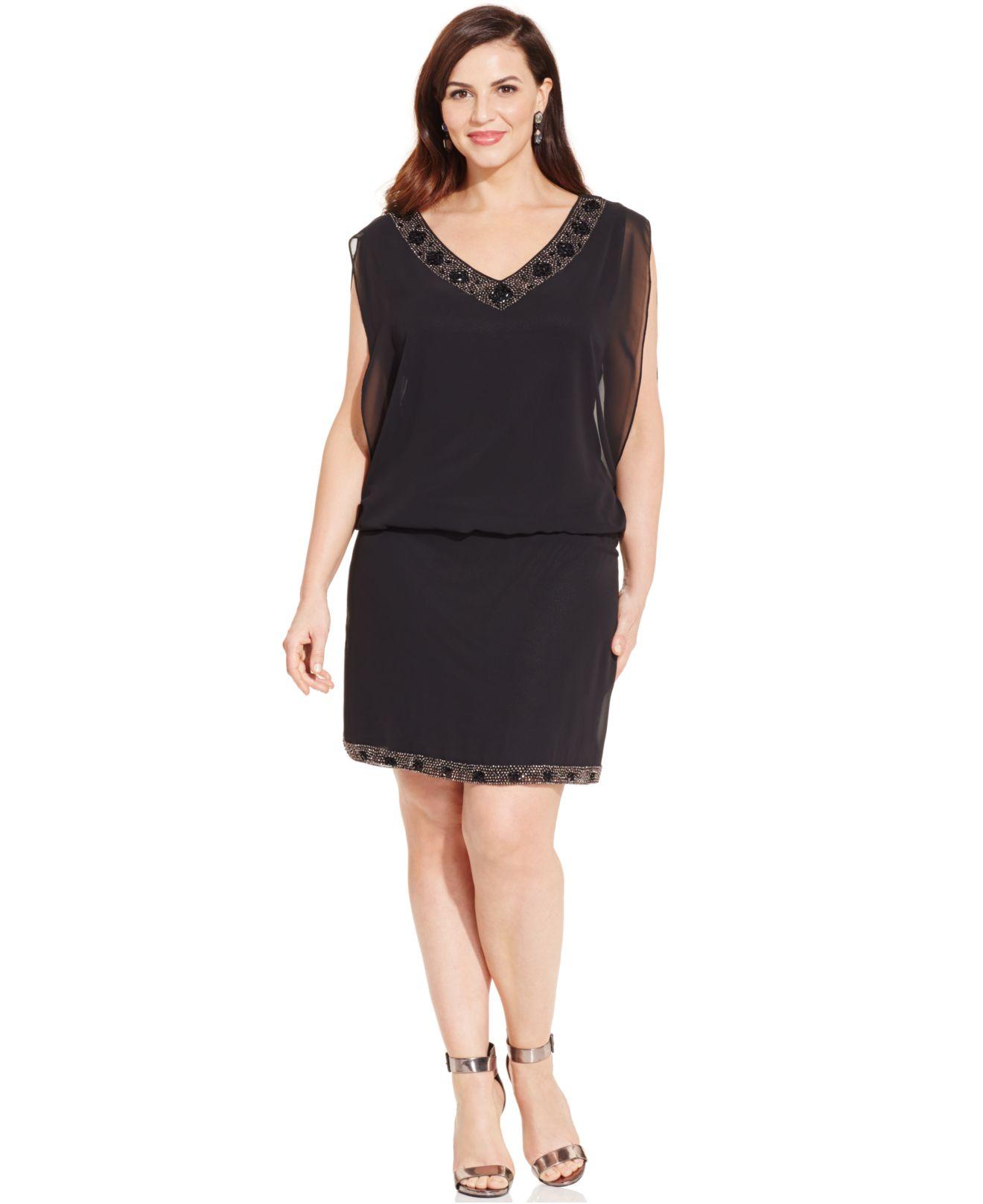 r&m richards plus size dresses