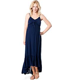 Jessica Simpson Maternity Tie-Front Maxi Dress