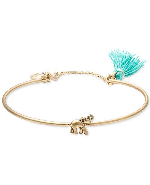 lonna & lilly Gold-Tone Elephant Bangle Bracelet