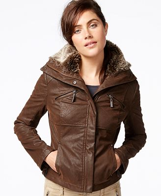 Leather Bomber Jacket Women
