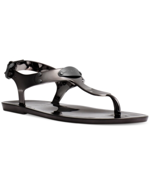 Michael Michael Kors Plate Jelly Thong Sandals Womens Shoes
