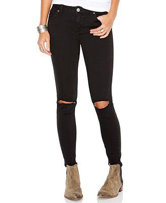 Free People Destroyed Skinny Jeans - Jeans - Women - Macy's