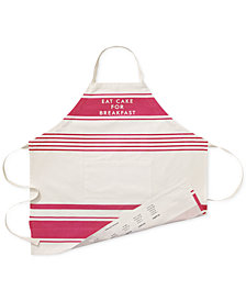 "kate spade new york ""Eat Cake for Breakfast"" Diner Stripe Apron"