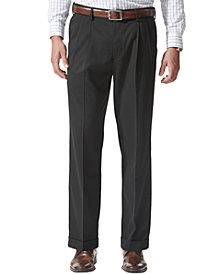 Dockers Men's Comfort Relaxed Pleated Cuffed Fit Khaki Stretch Pants D5