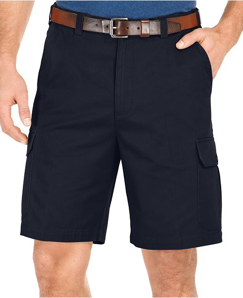 Geoffrey Beene Big and Tall Solid Cargo Shorts