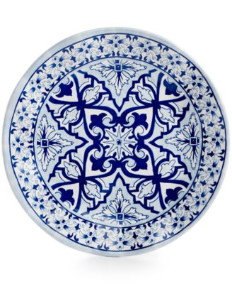 "Talavera Azul Collection Melamine 8"" Salad Plate, Set of 4"