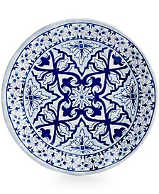 "Talavera Azul Collection Melamine 8"" Salad Plate, Set of 4"