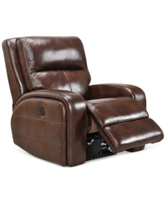 Hannon Leather Power Recliner Created for Macyu0027s  sc 1 st  Macyu0027s & Hannon Leather Power Recliner Created for Macyu0027s - Furniture - Macyu0027s islam-shia.org