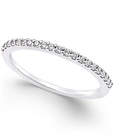 Thin Diamond Band (1/6 ct. t.w.) in Platinum