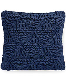 "Tommy Hilfiger Bar Harbor Navy 20"" Square Decorative Pillow"