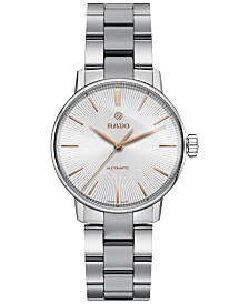 Rado Women's Swiss Automatic Coupole Classic Stainless Steel Bracelet Watch 32mm R22862023
