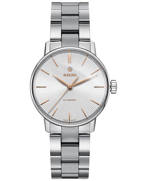 Rado Women's Swiss Automatic Coupole Classic Stainless Steel Bracelet Watch 32mm R22862023