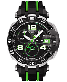 Tissot Men's Swiss Chronograph T-Race Nicky Hayden Limited Edition 2015 Black Rubber Strap Watch 44mm T0924172705701