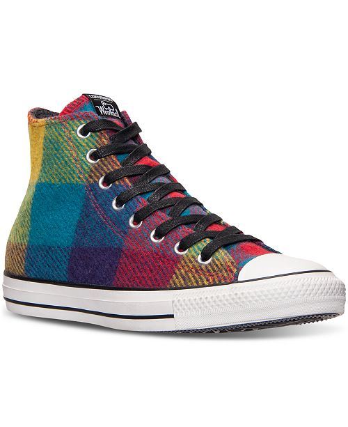 9fb83206a857ab ... Converse Men s Chuck Taylor All Star Hi Woolrich Casual Sneakers from  Finish ...