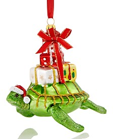 Holiday Lane Florida Turtle Carrying Presents Ornament Created For Macy's