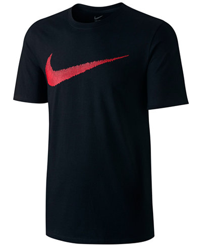 Nike Men's Hangtag Swoosh T-Shirt - T-Shirts - Men - Macy's