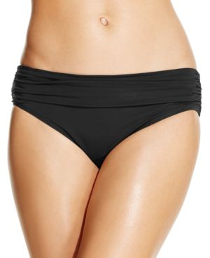 KENNETH COLE Banded Hipster Bikini Bottoms Women'S Swimsuit in Black