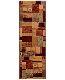 "Couristan Runner Rug, Taylor Maribel Mustard-Multi 2'7"" x 7'10"""