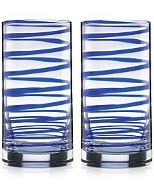 kate spade new york Charlotte Street Highball Glasses, Set of 2
