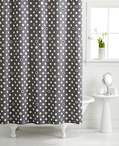 CLOSEOUT! Whim by Martha Stewart Collection Pop Dot Shower Curtain