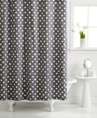 Exceptional Whim By Martha Stewart Collection Pop Dot Shower Curtain