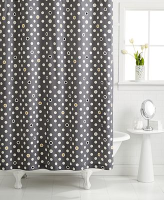 closeout! whimmartha stewart collection pop dot shower curtain