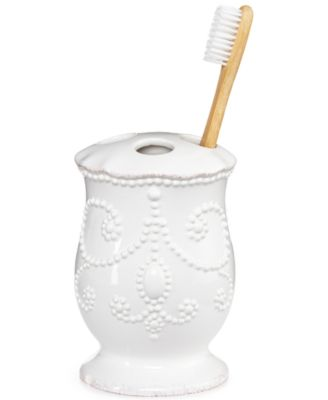 Bath Accessories, French Perle Toothbrush Holder