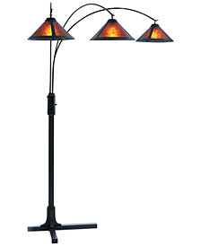 Nova Lighting Mica 3 Light Steel Arc Floor Lamp