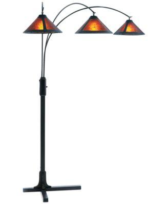 nova lighting mica 3 light steel arc floor lamp