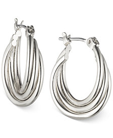 "Nine West Twisted 1/2"" Hoop Earrings"