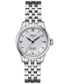 Tissot Women's Swiss Automatic Le Locle Stainless Steel Bracelet Watch 25mm 758499248655